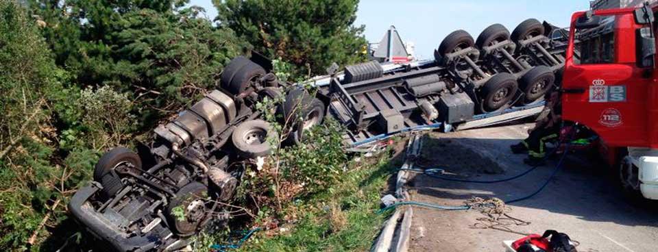 Datos y efectos del vuelco del camión